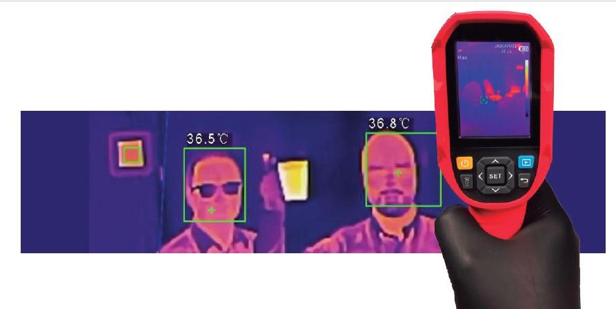 Camara de medición de temperatura portatil